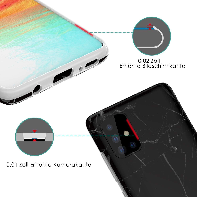 VoguSaNa Kompatible f/ür Handyh/ülle Samsung Galaxy A71 5G H/ülle Marmor Silikon Matt Marble Muster Case Cover Weiche Tasche D/ünn Schutzh/ülle Handytasche Skin Softcase Schale Bumper TPU Etui-Blau Sea