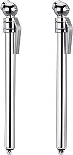 Hotop 2 Pack Tire Gauges Tire Pressure Gauges, Pencil Style (Silver)