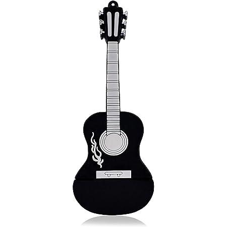 Tossper Shiny Crystal Diamond Guitar Usb Flash Drive With Chain 8gb Silver Küche Haushalt