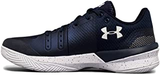 Under Armour New Women's Block City Volleyball Shoe Size 5 White/Gold 1290204