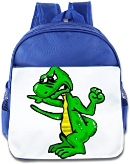 XJBD Custom Funny Angry Lizard Teenager School Bag Backpack For 1-6 Years Old RoyalBlue