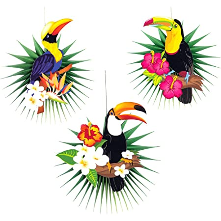 Hawaiian Jungle Toucan Tropical Bird Large Balloon Tropical Luau Party Decoratio