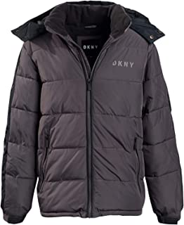 DKNY Boys' Heavyweight Polar Fleeced Lined Puffer Bubble Jacket with Hood