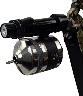 D&Q Archery Bowfishing Spinning Reel Mount Seat Set Hunting Shooting Base Bowfisher Direct Mount for Recurve Compound Bow Slingshot Black