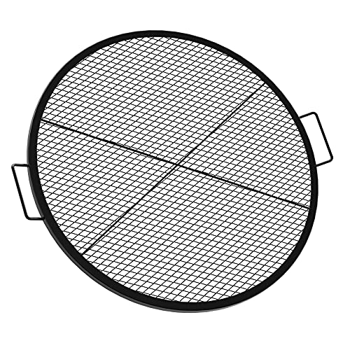 Onlyfire X-Marks Fire Pit Grill Cooking Grate, Outdoor Campfire BBQ Grill, Round - 30 Inch