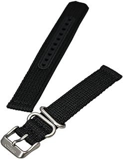 Seiko Original Nylon Watch Strap Black Fits 18mm Models SNK809, SNK805, SNK807, SNK813