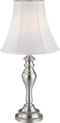 Park Madison Lighting PMT-1813-16 Satin Nickel Metal Table Lamp