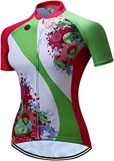 Women's Cycling Jersey Pro Bike Team Full Zipper Summer Short Sleeve MTB Shirt Tops Quick Dry Bicycle Clothing Jerseys