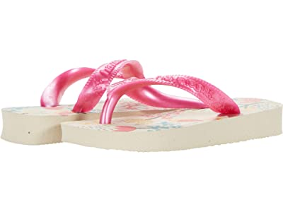 Havaianas Kids Flores Sandals (Toddler/Little Kid/Big Kid) (Beige/Pink) Girls Shoes