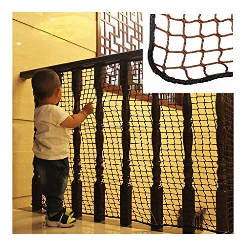 Amazing Deal PLLP Safety Nets,Children's Stairs Shatter-Resistant Net Balcony Protection Net Brown C...