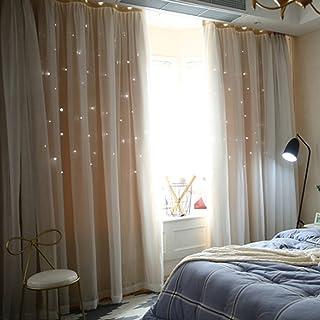 UEB Rideaux Salon De Fenêtre Ombrage étoile Cachée Purdah à La Maison  Chambre à Coucher Pour