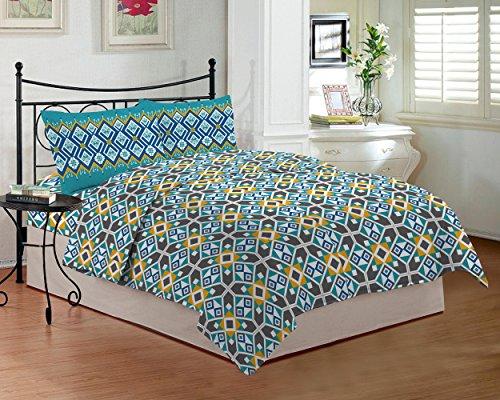 Bombay Dyeing TC-290 - Sábana para cama de matrimonio (274 x 229 cm), color azul