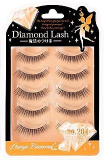 Diamond Lash(ダイヤモンドラッシュ) オレンジ no.204 5ペア