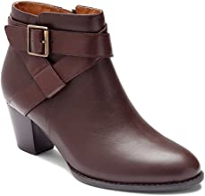 Vionic Women's Upright Trinity Ankle Boot - Ladies Boots with Concealed Orthotic Arch Support