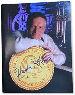 Hugh Heffner Signed Autographed Friar's Club Program Playboy GV907971