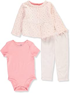 Carter's Baby Girls' Quilted Contrast 3-Piece Layette Set