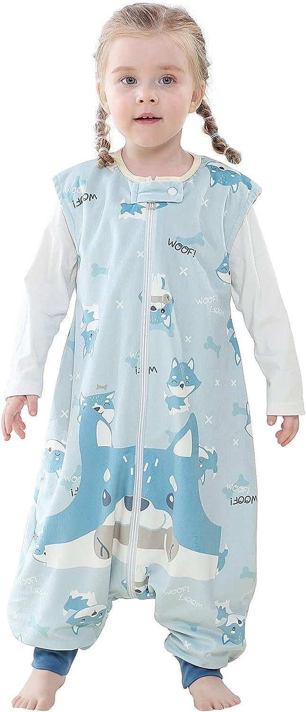N/AB Toddler Kids Girls Cartoon Sleeveless Jumpsuit Fleece Zipper Wearable Blanket