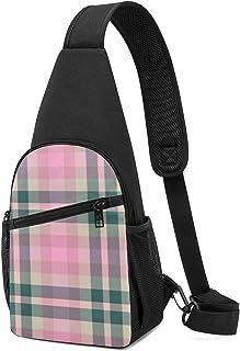 Bolsa de hombro ligera para llevar al hombro, mochila para el pecho, bolsa cruzada, para viajes, senderismo, para hombres ...