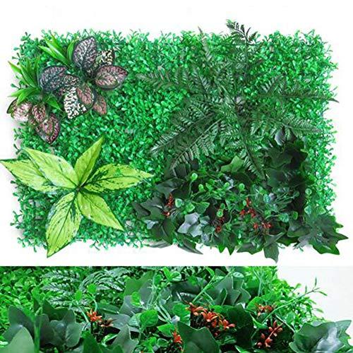 9 Pieza Planta Artificial Losetas- Jardin Vertical Pared De Planta Artificial, Pared De Flores De Boda Decoración De Pared De Techo, 60X40 Cm,C