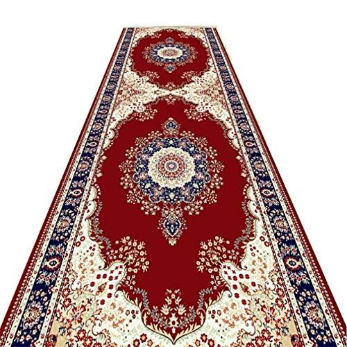Home Mall- Rosso Classico Tappeti Passatoie Corridoio Antiscivolo Lavabile Materiale Misto Durevole, Elevata Resistenza Molte Taglie (Size : 0.6×4m)
