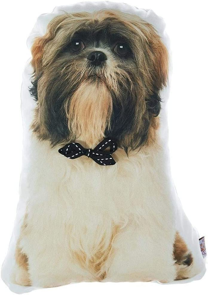 Dog-Shaped Tzu Throw Pillow Multi famous Color Polyester Animal Removab Max 90% OFF