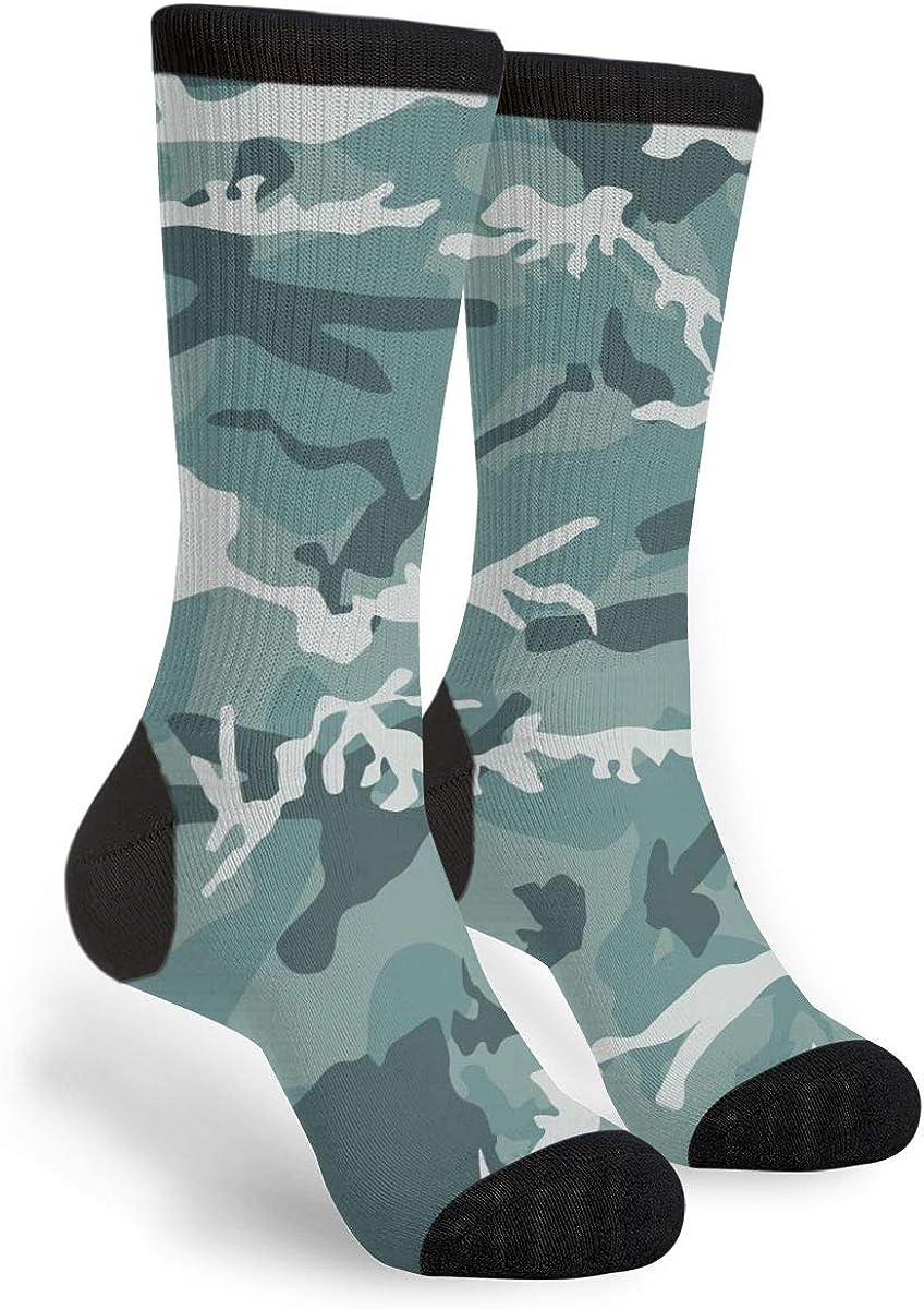 Camo Camouflage Novelty Fun Crazy Crew Socks - Dress Casual Socks