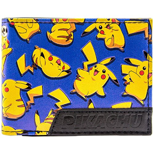Cartera de Pokemon Pikachu- color amarillo / azul