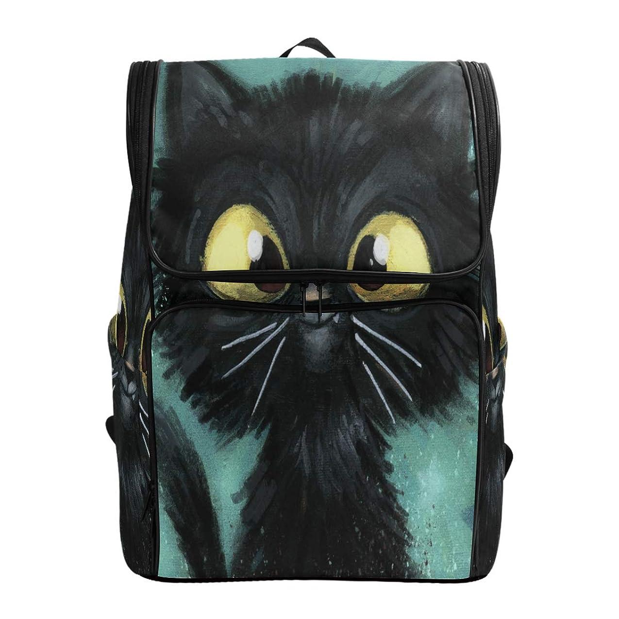 彼自身フェザークリームリュックレディース メンズ 黒 面白い ネコ 猫 猫柄 通勤 outdoor 軽量?大容量?防水加工 修学旅行 登山 ビジネス 薄型リュック pc リュック カジュアル 男女兼用