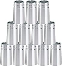 Big Teeth Golf Ferrules .355 Aluminum Multi Color 25mm 12Pcs for Irons Shafts Silver