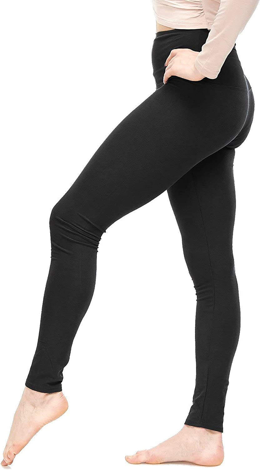 LMB Lush Moda Leggings for Women High Waisted with Buttery Extra Soft Fabric - for Workout & Yoga Pants XS to 5XL