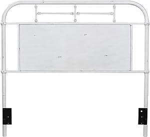 Liberty Furniture Industries Vintage Series King Metal Headboard, W81 x D2 x H54, Antique White