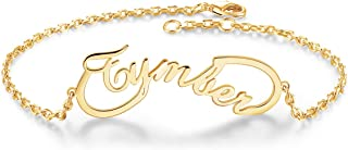 Infinity Name Bracelet Personalized, Custom Charm Link Bracelet Made with Any Names