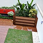Leisurelife Metal Raised Garden Bed Planter Box Kits for Vegetables Outdoor, Steel, 2x2 ft, Brown 12 【Raised Garden Bed Size】:8x4 ft, height 1ft. No bottom 【Material】: The planter box made of color steel, waterproof and anti-rust, can be used for 10 years. 【Open-bottom】: Integrating with nature, there is no trouble with standing water.