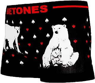 BETONES (ビトーンズ) メンズ ボクサーパンツ ANIMAL4 シロクマ dwearsステッカー入り ローライズ アンダーウェア ボーダー ブランド 男性 下着 誕生日 プレゼント