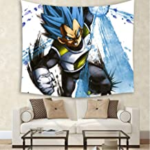 JHJUH Tapestry Background Cloth Blanket Beach Towel Vegeta Wall Hanging Anime Tapestry Home Decoration 59 Inches X 79 Inches