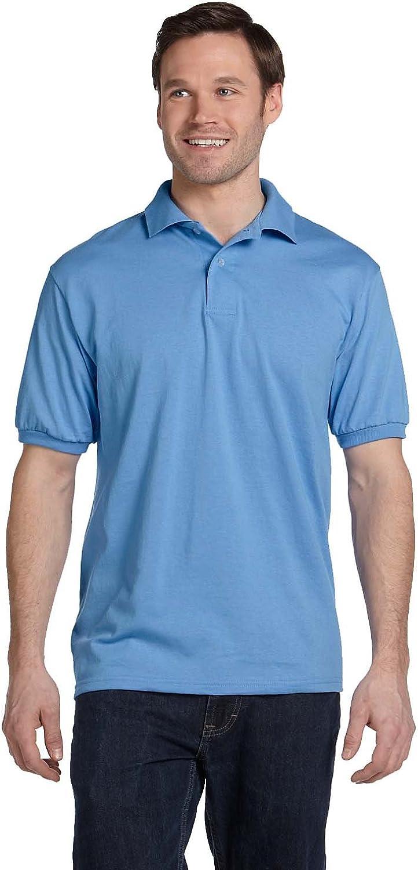 Stedman by Hanes 5.5 oz 50/50 Jersey Knit Polo in Carolina Blue - XXX-Large