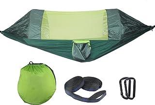 verde da viaggio spiaggia portatile amaca a doppio albero capacit/à di carico 274 kg giardino Amaca da campeggio per paracadute con zanzariera rimovibile per 2 persone per escursioni