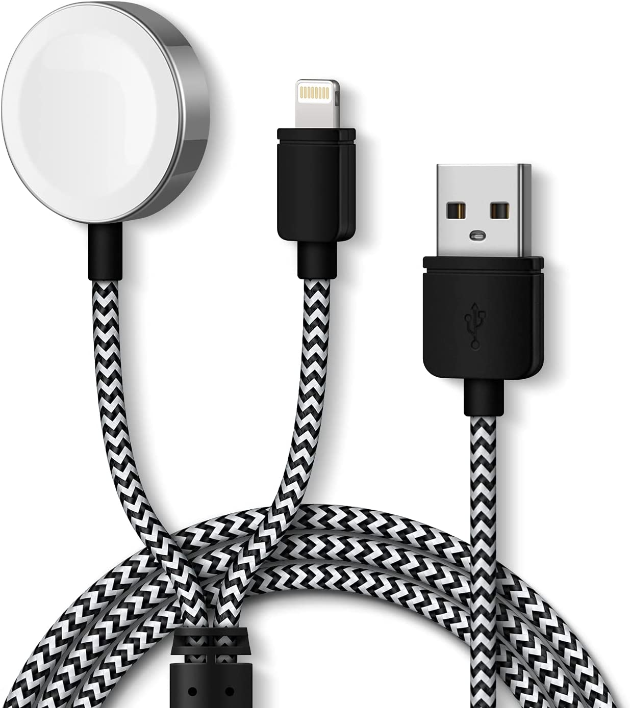 CulaLuva Smart Watch Charger,Magnetic Charging Cable 5.0ft/1.5M for iWatch Charger Compatible with Apple Watch Series SE/6/5/4/3/2/1 & Phone 12/11/Pro/Max/XR/XS/XS Max/X&Pad Series