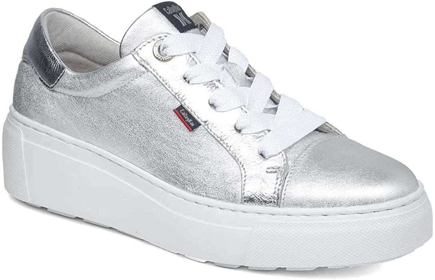 CALLAGHAN 14913 Moon LINE Sneakers lace-up shoes Woman Silver Leather