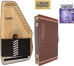 Oscar Schmidt 21 Chord Electric Autoharp, Solid Spruce, Natural Wood, OS120CNE