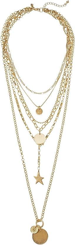 Rebecca Minkoff - Medallion Layered Statement Necklace