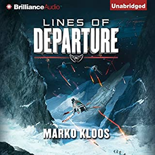 Lines of Departure     Frontlines, Book 2              Written by:                                                                                                                                 Marko Kloos                               Narrated by:                                                                                                                                 Luke Daniels                      Length: 9 hrs and 6 mins     16 ratings     Overall 4.7