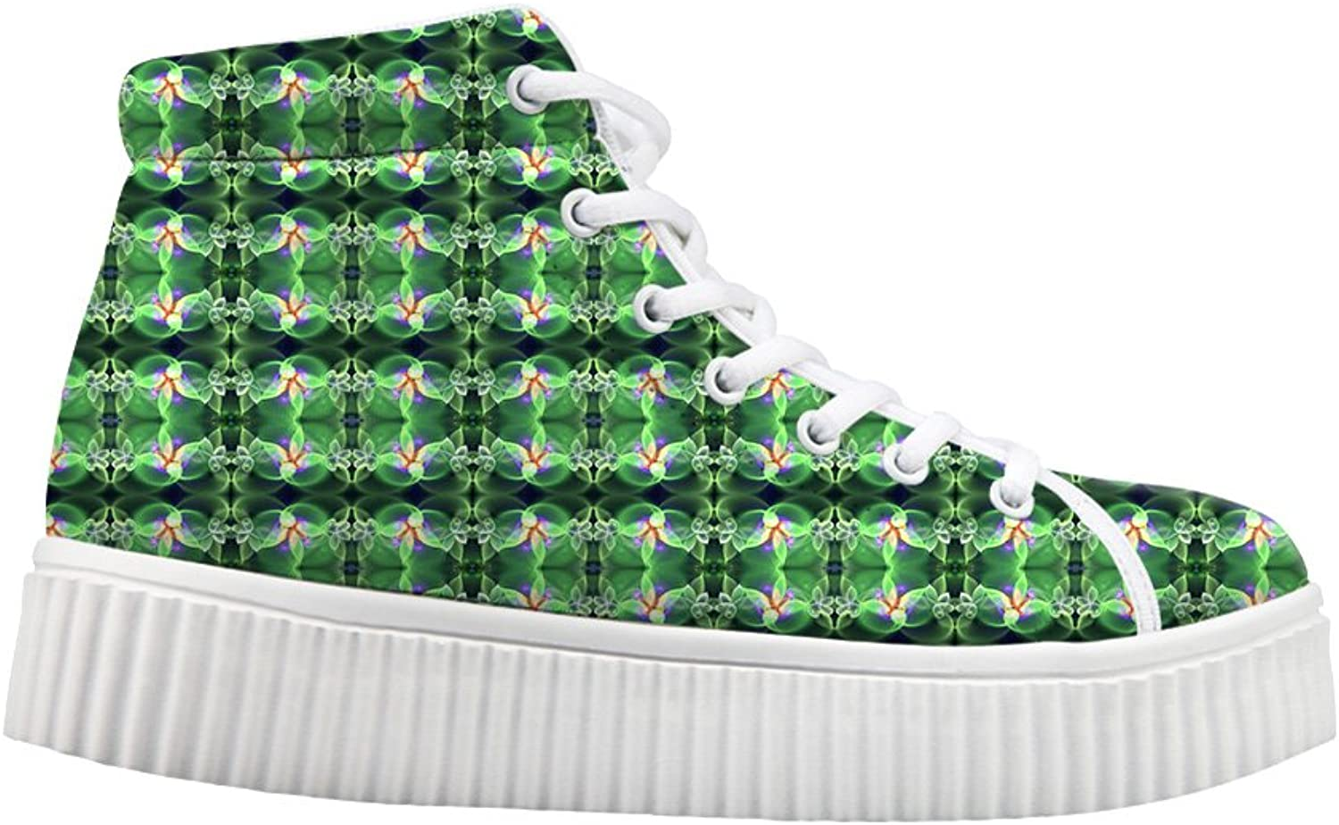 Stylish colorful Print Teens Casual Hi-top shoes Women Platform Sneakers US 6