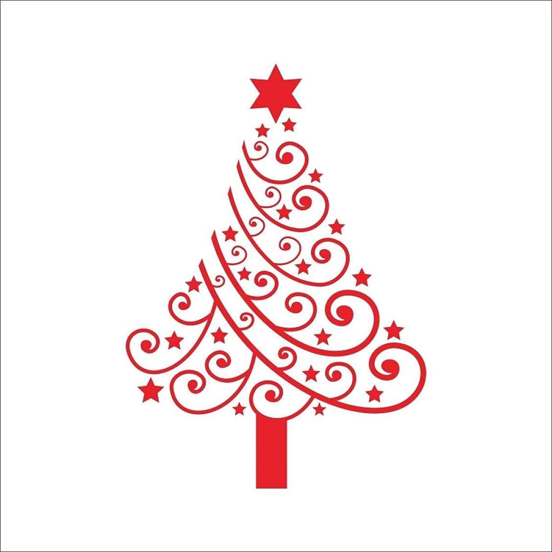 不適当ワーディアンケースモスクTJTJ PVCクリスマスツリーワステッカーショップウィンドウガスデコレーションRemovabe
