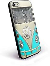 Turquoise Vw Volkswagen Mini Bus for iPhone 5/5s Black case