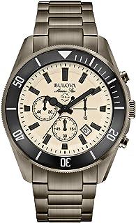 Bulova - 98B205 - Reloj de Cuarzo para Hombre, Correa de Acero Inoxidable Chapado Color Beige