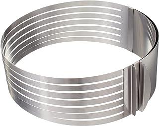 قالب ستانلس ستيل دائري لتقطيع الكيك لشرائح من بلاك بيري، فضي - 25 × 8.5 سم