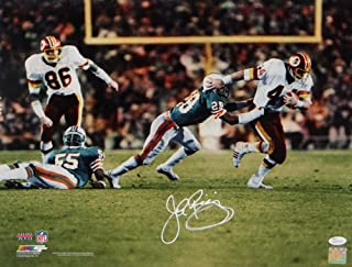 John Riggins Autographed Redskins 16x20 PF Photo vs Dolphins in SB XVII PF- JSA W Auth White