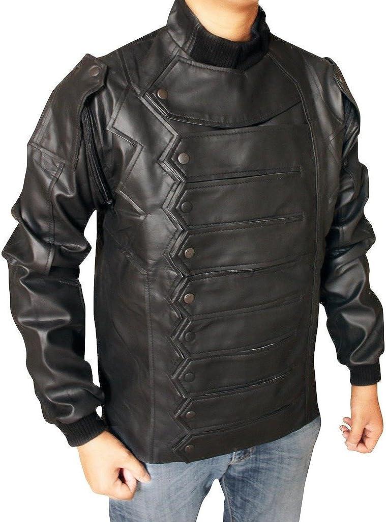 Star Men's Black Detachable Sleeves Jacket