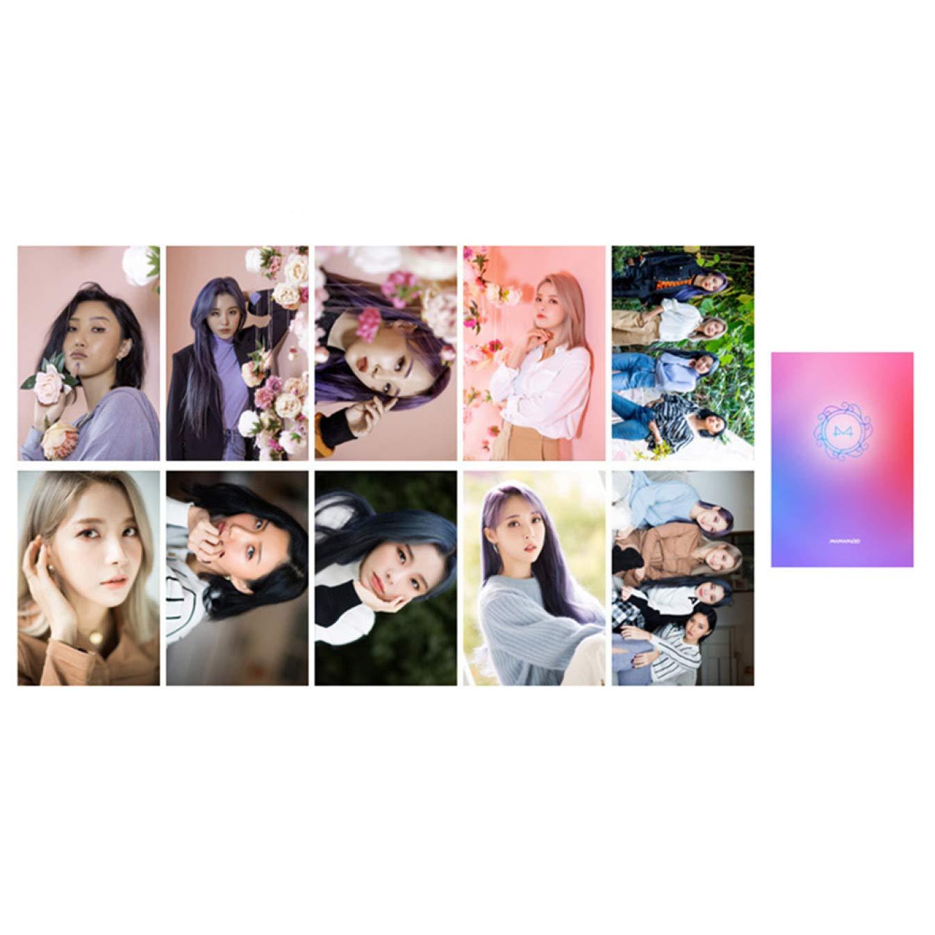 por paquete TaiyuanCathy Exquisito juego de 10 piezas de Kpop MAMAMOO 2/º /álbum Reality in Black Photocard Lomo Postal 1 uds